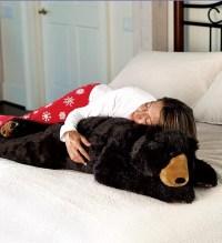 Teddy Bear Body Pillow, Bear Hug Body Pillow - Plow & Hearth