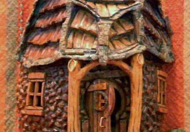 Carving A Bark House