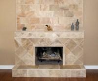 Travertine Fireplace | House | Pinterest