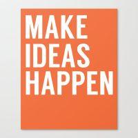Make Ideas Happen - Office Art - Office Decor ...