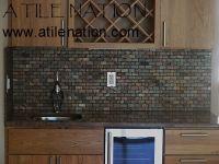 Slate subway tile | Kitchens & Laundry Rooms | Pinterest