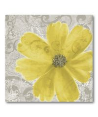 Yellow Poppy Flower Canvas Wall Art