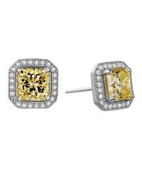 Canary diamond earrings | Sparkle | Pinterest