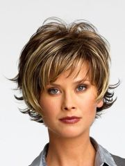hairstyles over 50 frosted short