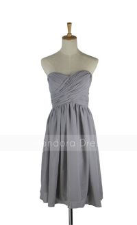 Gray Bridesmaid Dress - Strapless Bridesmaid Dress ...