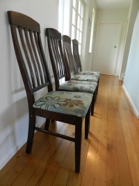 Reupholster Kitchen Chairs With Rugs Easy Diy Inexpensive ...