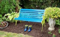 Painted Garden Bench Ideas Photograph | Painted garden bench
