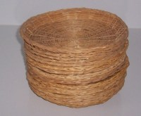 Wicker Bamboo Rattan Picnic Paper Plate Holders Reusable ...