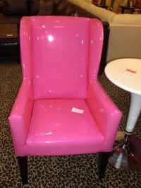 Hot Pink Patent Leather Arm Chair | Home Decor | Pinterest