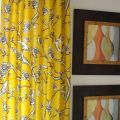 Yellow curtains drapes designer flate rod top drapery panels 90 inche