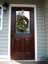 faux wood stain door tutorial   Wood in Distress   Pinterest