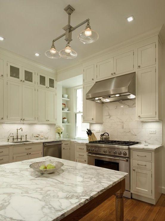The color of the granite countertops