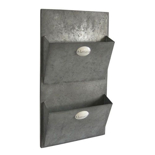 Metal Wall Two Letter Holder