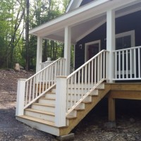 Front steps with railings | Country House & Ideas | Pinterest