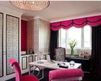 Hot Pink & Black Office