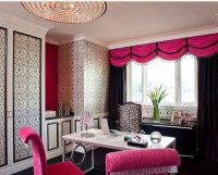 Hot Pink & Black Office | My makeup room | Pinterest