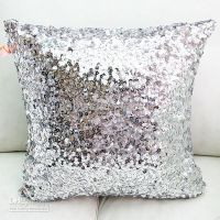Silver sequin pillow | things ILove | Pinterest