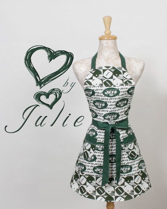Jets NFL football Apron  New York Jets by apronqueen on Etsy, $29.95