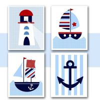 NAUTICAL Nursery WALL ART - Instant Download - Printable ...