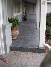 slate tile front porch - Google Search | Tile | Pinterest