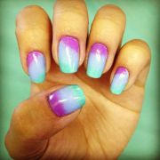 purple blue and teal gradient