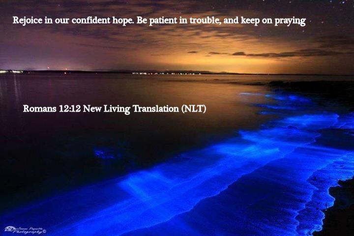 Romans 12.12 New Living Translation (NLT)