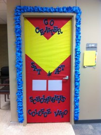 The super hero door I decorated at the high school I work ...