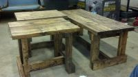Homemade coffee and end tables. | Basement | Pinterest