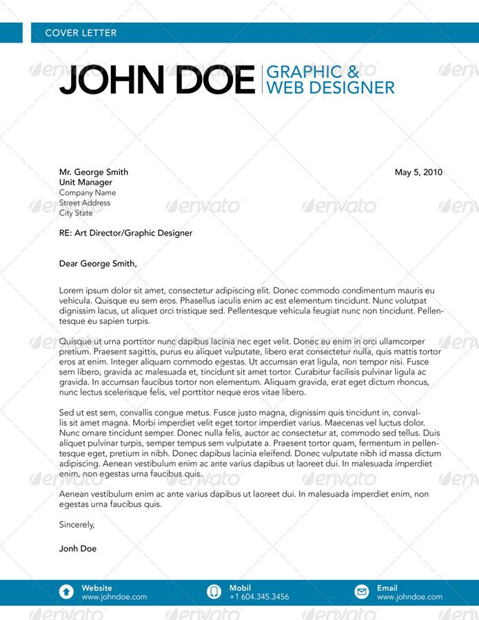 Cover Letter  Graphic  Web Designer  Cover Letters