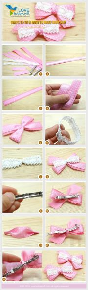 ways tie bow make hair