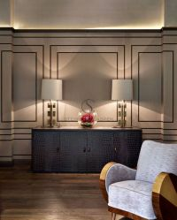 WALL TREATMENT Interior Design: Chobham - Stephen Clasper ...