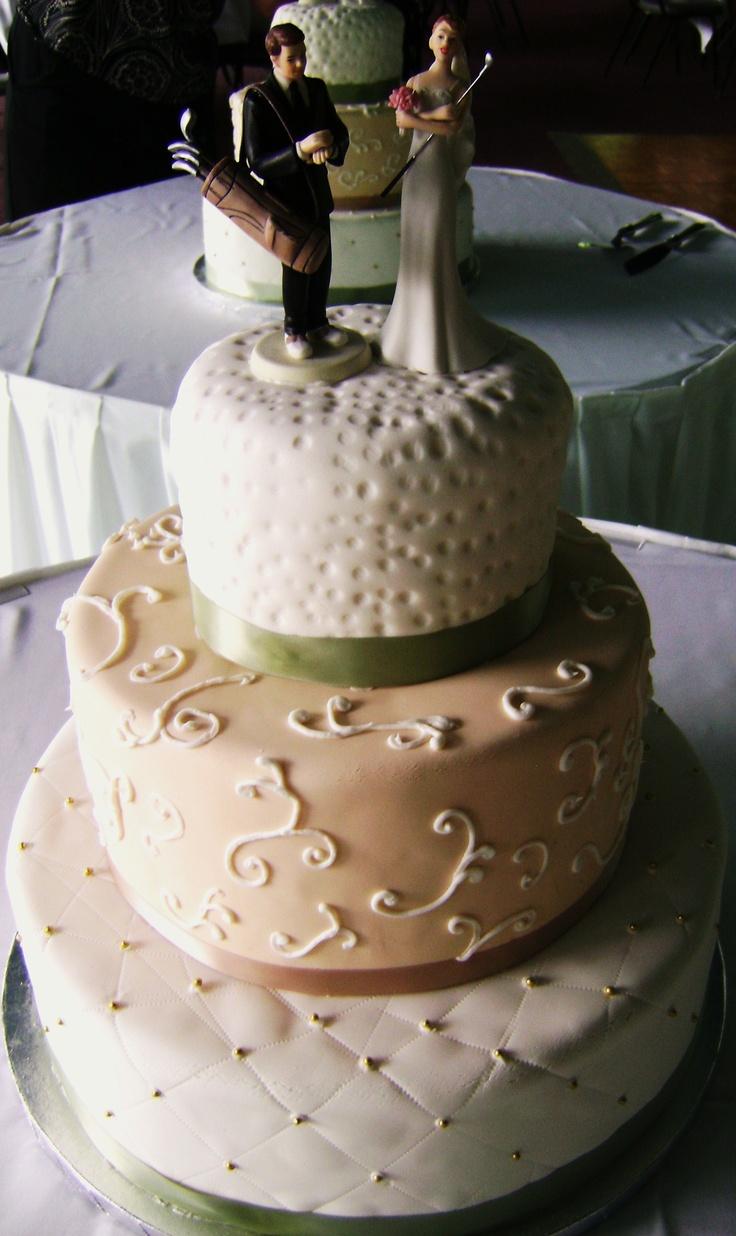 Golf themed wedding cake  Myrtle Beach Weddings with Golf