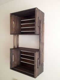 Brown+Wooden+Crate+Hanging+Wall+Shelves | CRAFTS | Pinterest