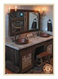 Country bathroom vanity | For the Home | Pinterest
