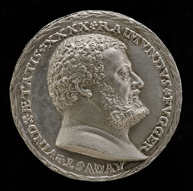 Matthes Gebel (German, ca. 1500 - 1574), Raimond Fugger, ca.1529. Lead alloy. National Gallery of Art, Washington, Samuel H. Kress Collection.
