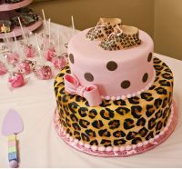 Cheetah Print Baby Shower Decorations