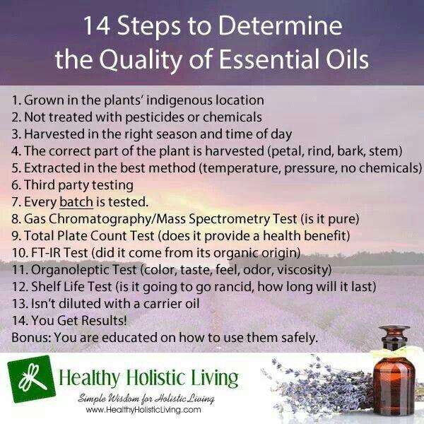 14 Steps to Determine the Quality of Essential Oils