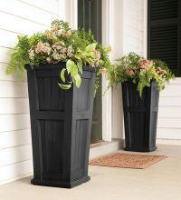 Front porch planters..   Garden Ideas   Pinterest