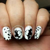 Mickey mouse nail design | Nails | Pinterest