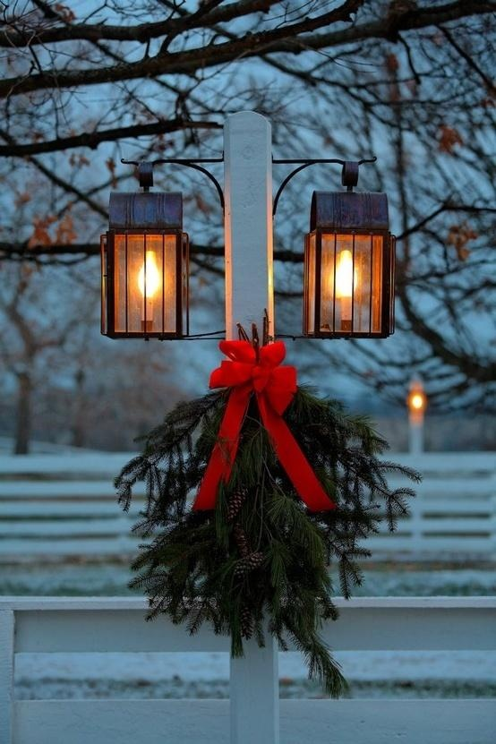 christmas decoration lamp post ideas christmas decorating