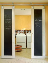 Laundry room-sliding doors | For the Home | Pinterest
