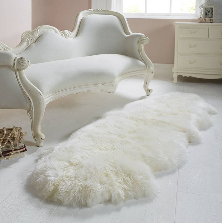 white sheepskin rug  Dream Home  Pinterest
