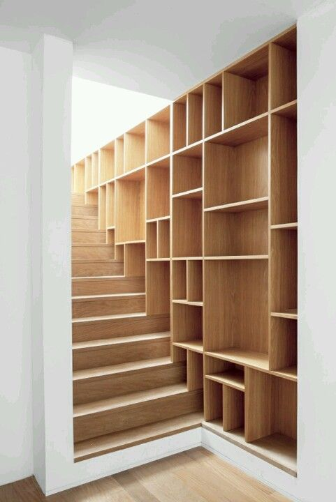 Bookcase Stairs #bookcase & #stairs #wood | Craft Ideas | Pinterest