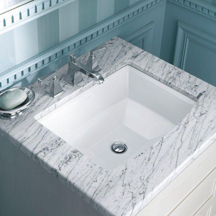 Archer Undermount Bathroom Sink in White