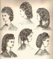 history of hairstyles in 1800s