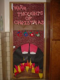 Christmas Decoration Ideas For Office Doors