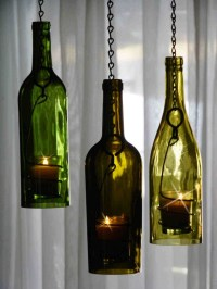 DIY wine bottle candle holders!! Pretty cool