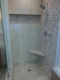Shower recessed shelf | Bathroom | Pinterest