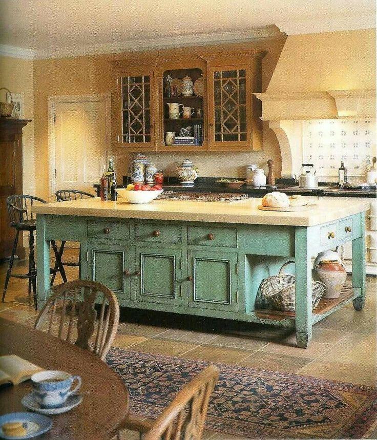 Distressed Kitchen Island  Kitchen Ideas  Pinterest
