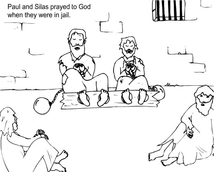 Paul And Silas In Prison Earthquake Coloring Page Coloring